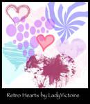 Retro Heart Brushes