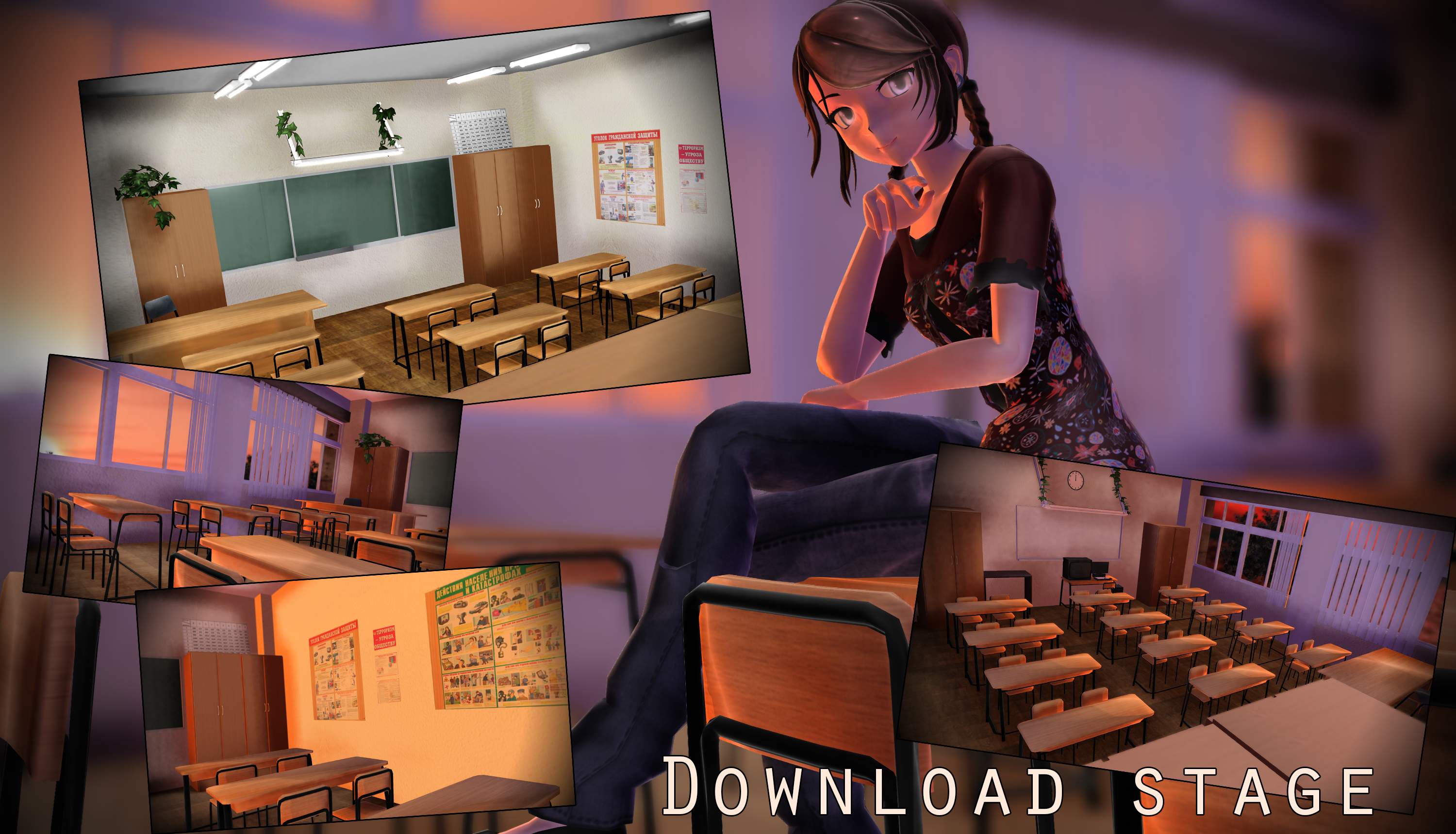 MMD stage russian classroom math/life safety DL by