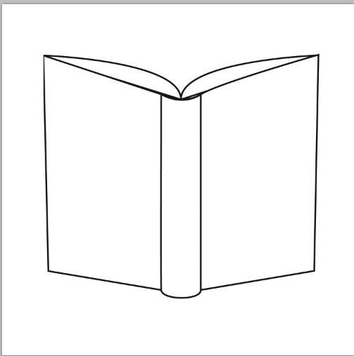 Open Book Cover Template : Back of an open book ps brush by micro on deviantart