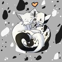 Cow + Dandruff Cuddles .:Commission:. by JK-Draws