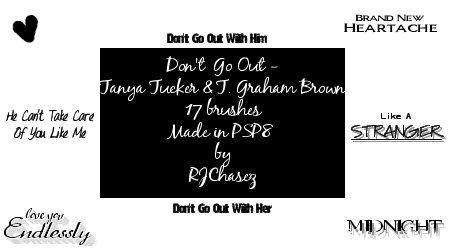 Don't Go Out lyrics brushes by RJChasez