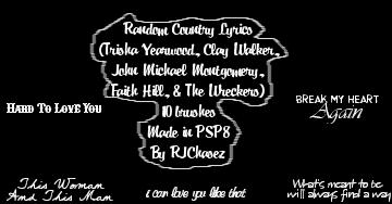 Random Country lyrics brushes by RJChasez