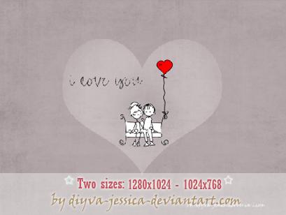 Valentines Day Wallpaper by DiyVa-Jessica