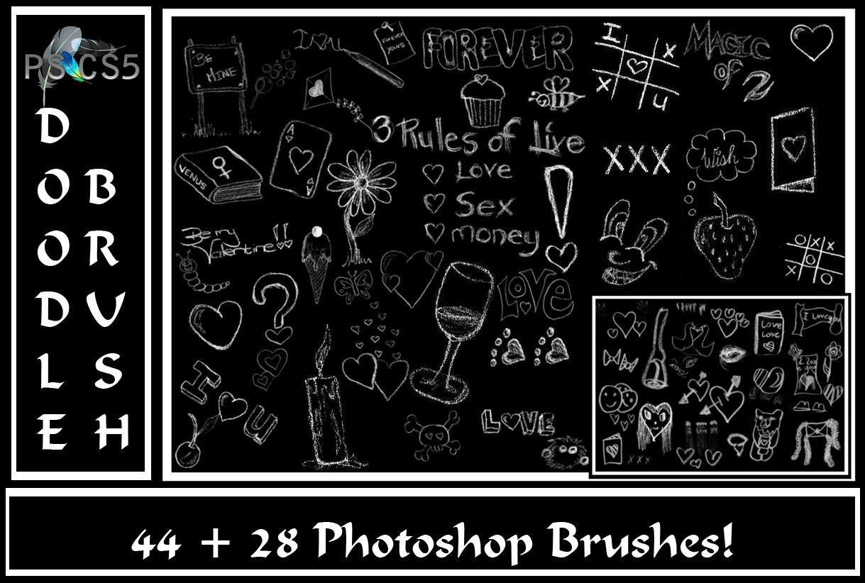 Valentine's Doodle Brush Set..