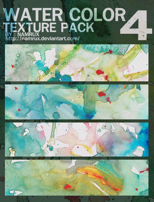 water color texture pack 0404 by namrux