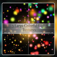 5 Large colorful light textures - Pack II