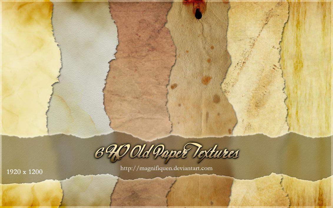 6 HQ Old Paper Textures by MagnifiqueN