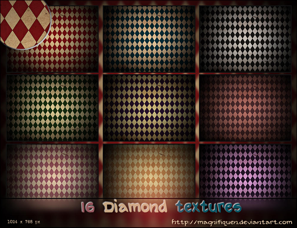16 Large Diamond Textures Pack by MagnifiqueN