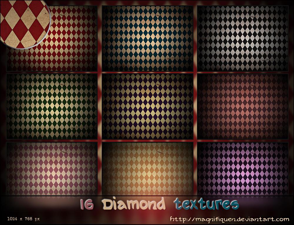 16 Large Diamond Textures Pack by MagnifiqueN