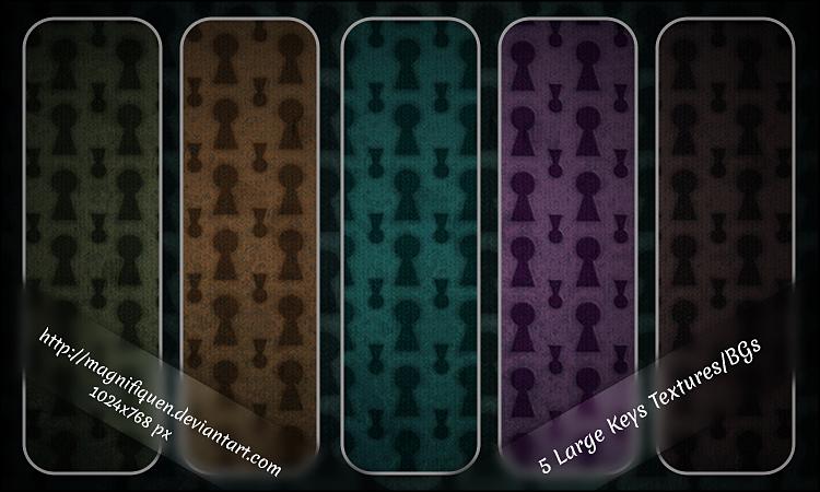 5 Large Keys Textures/BGs by MagnifiqueN