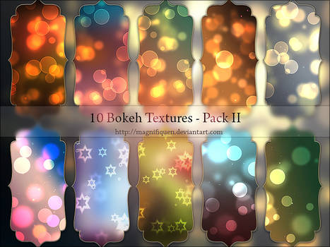10 Light Textures - Bokeh Pack II