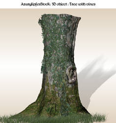 3D object 1.1 Tree with vines by AzurylipfesStock