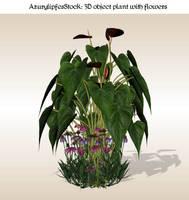 3D object 1.0 Plant-flowers by AzurylipfesStock