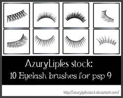 Brushes -Eyelashes by AzurylipfesStock