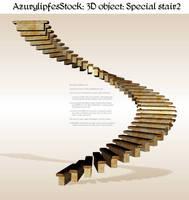 3D object - strange stair 2 by AzurylipfesStock