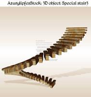 3D object - strange stair 3 by AzurylipfesStock