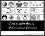 Gemstone brushes