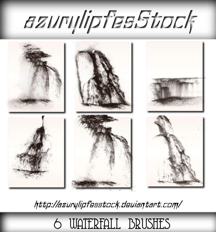 Waterfall brushes by AzurylipfesStock