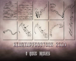 Brushes2009- musicpart 1 by AzurylipfesStock