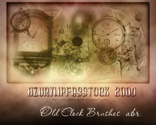 Old clock abr brushes by AzurylipfesStock
