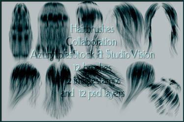 collaboration hairbrushes 1.2 by AzurylipfesStock