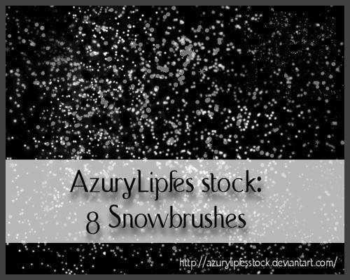 Snowbrushes by AzurylipfesStock