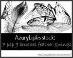feather-wing brushes