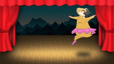Guinea pig dancing ballet by anya1916