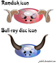 Ramdisk and Bullray-disc icons by juhele