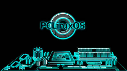 Pclinuxos city, Tron inspired