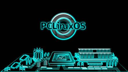 Pclinuxos city, Tron inspired by juhele