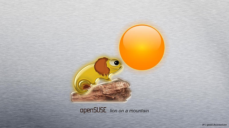 OpenSuse - Lion on a mountain by juhele