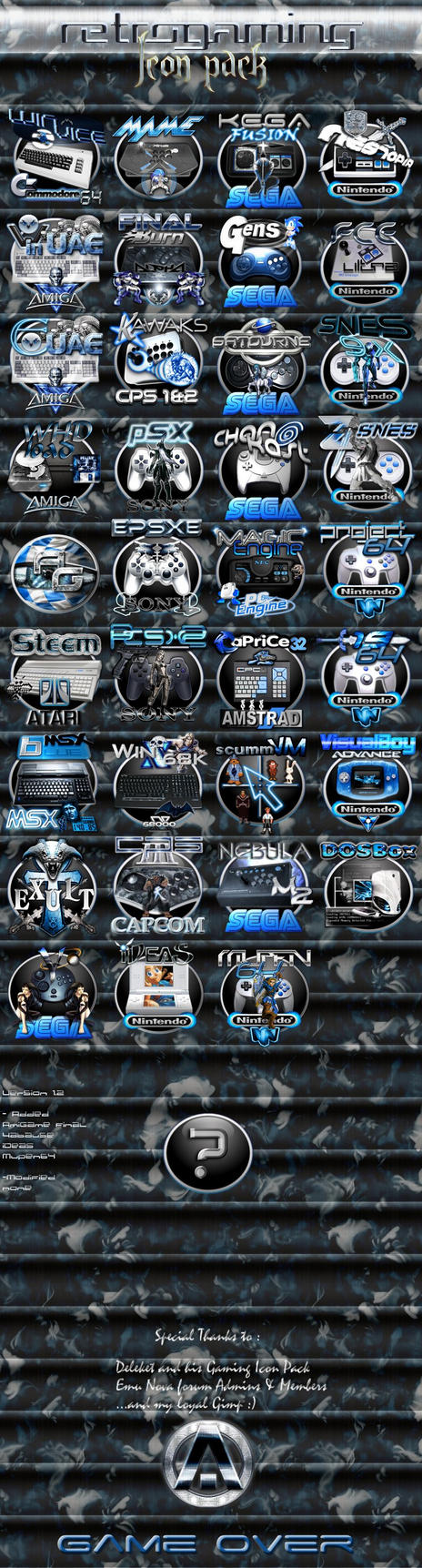 Retrogaming Icon Pack (old)(2008) by Anarkhya