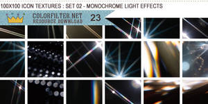 Icon Textures Set 02 - Monochrome Light Effects by colorfilter