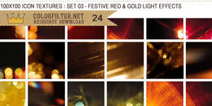 Icon Textures Set 03 - Festive Red and Gold Lights