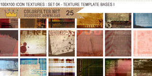 Icon Textures Set 04 - Texture Template Bases I
