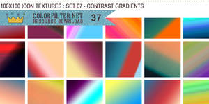 Icon Textures Set 07 - Contrast Gradients by colorfilter