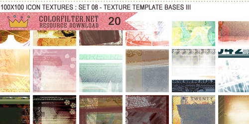 Icon Textures Set 08 - Texture Template Bases III