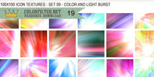 Icon Textures Set 09 - Color and Light Burst