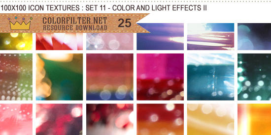 Icon Textures Set 11 - Colors and Lights II