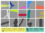 100x100 Icon Brushes: Set 01 - Very Jagged Edges