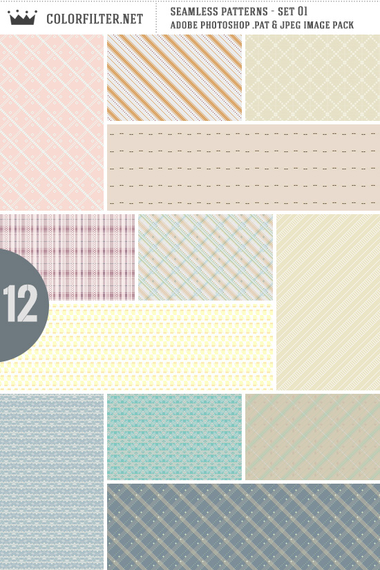 Seamless Patterns: Set 01 - Random Assorted by colorfilter