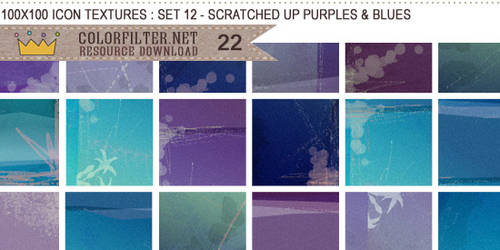 Icon Textures Set 12 - Scratched Up Purples + Blue by colorfilter