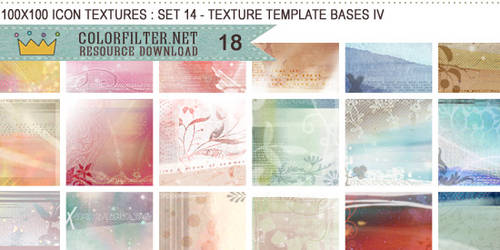 Icon Textures Set 14 - Texture Template Bases IV