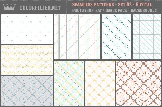 Seamless Patterns Set 02 - Misc + Pixels
