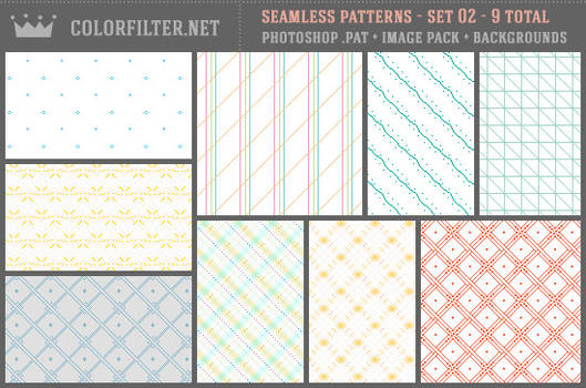 Seamless Patterns Set 02 - Misc + Pixels