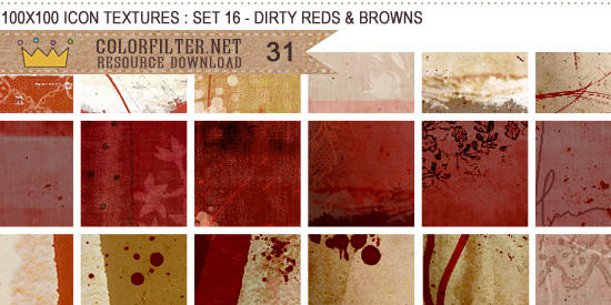 Icon Textures Set 16 - Dirty Reds + Browns