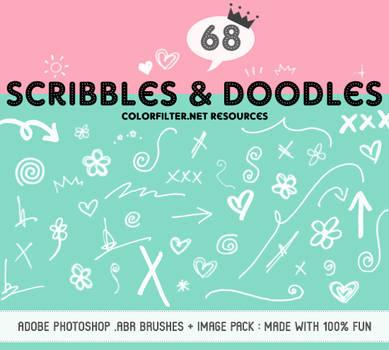 Decorative Brushes Set 06: Fun Scribbles + Doodles