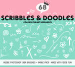 Decorative Brushes Set 06: Fun Scribbles + Doodles