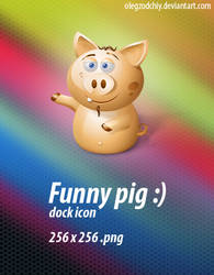 Funny Pig dock icon
